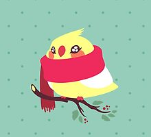 Winter Birb by amandaflagg