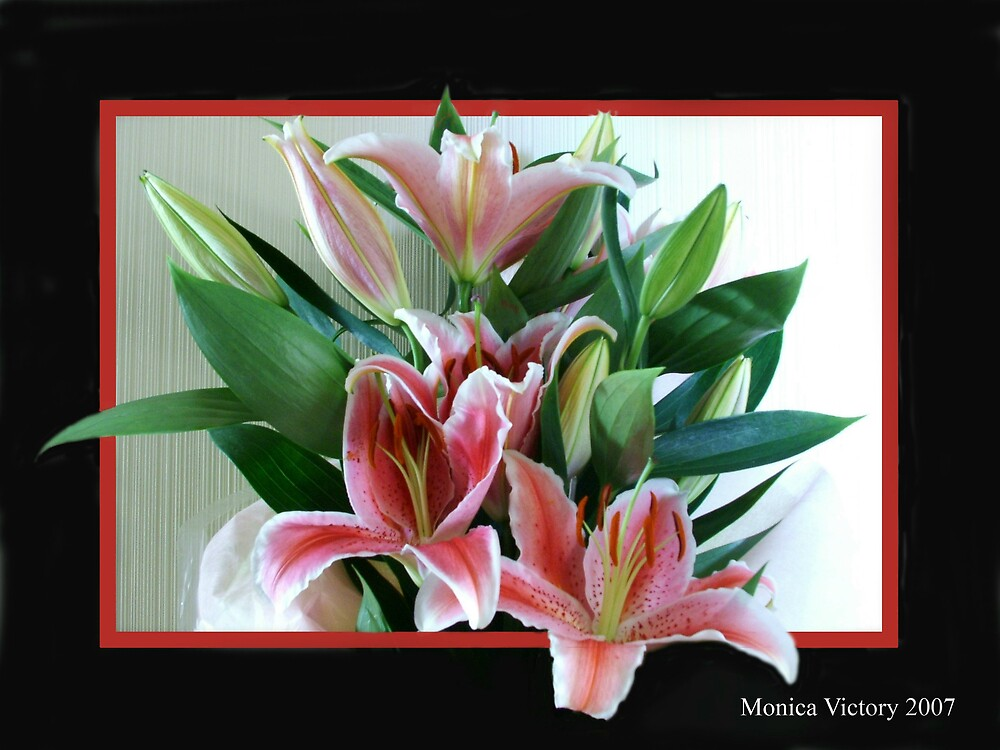 Oriental Lillies by monicav62