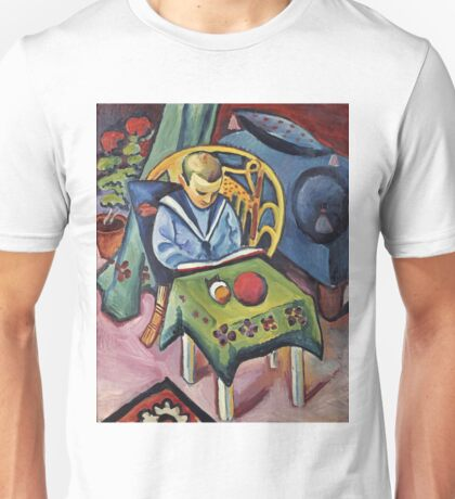 August Macke - A Young Boy With Books And Toys Unisex T-Shirt