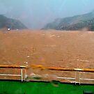 Sudden squall on the Yangtze River by Nancy Richard