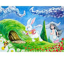 Oh dear! I shall be late! (Alice and the White Rabbit) Photographic Print