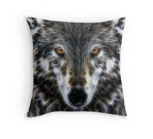 Wolf Inspirational Portrait Throw Pillow