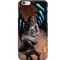 Robot Angel Painting 003 iPhone Case/Skin