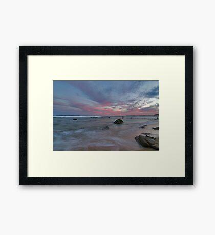 bar beach Newcastle nsw Framed Print