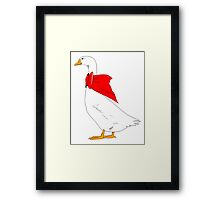 Goose With Bow Framed Print