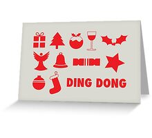Christmas symbols - ding dong Greeting Card