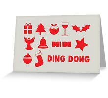 Christmas symbols - ding dong Greeting Card