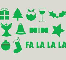 Christmas symbols - fa la la by rperrydesign