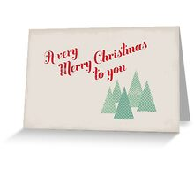 Retro Christmas Greetings Card Greeting Card