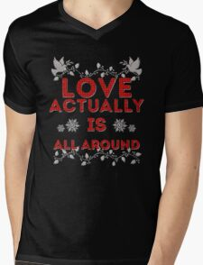 Love Actually is Mens V-Neck T-Shirt