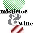 Christmas ampersand - mistletoe & wine by rperrydesign
