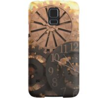 Metal Clocks on Stone Wall Samsung Galaxy Case/Skin