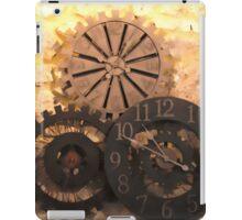 Metal Clocks on Stone Wall iPad Case/Skin
