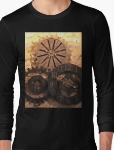Metal Clocks on Stone Wall T-Shirt