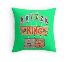 PRIZZA KING Design by SmashBam Throw Pillow