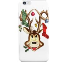 Reindeer Antlers and Christmas Stockings Greeting Cards iPhone Case/Skin