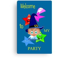 Toon Boy 6b Welcome to My Wizard Party Canvas Print