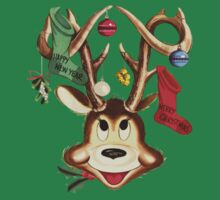 Reindeer Antlers and Christmas Stockings Greeting Cards T-Shirt