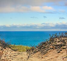 Grand Sable Dunes and Lake Superior by Kenneth Keifer