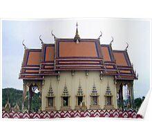 Thailand- Temple Plai Laem Poster
