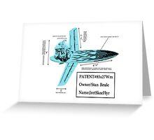 Stan Brule Flying Surfboard Blueprints Design by SmashBam Greeting Card