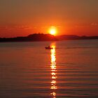 Sunset Boating - Nelson Bay by Paul Lamble