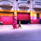 Colors on the Streets of Dakar Senegal by Wayne King