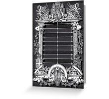 Vintage Menu with Coat of Arms on Blackboard Greeting Card