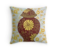 Wealth Vase Throw Pillow