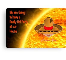 Toon Boy 8a Hot Party at our House - greetings card Canvas Print