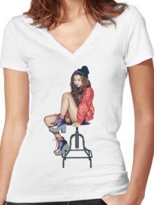 Sistar Hyorin Women's Fitted V-Neck T-Shirt