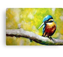 Kingfisher Painting Canvas Print