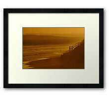 Wave Rider,13th Beach Framed Print