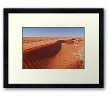 Madigan Line Sand Hill Simpson Desert  Framed Print
