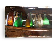 Old Bottles Metal Print