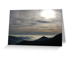 Fog Blankets the Central Valley of California Greeting Card