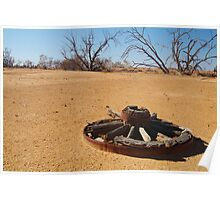 Cart Wheel,Outback Australia,Qld Poster