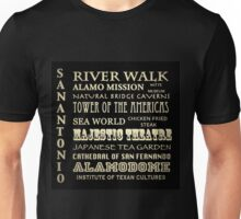 San Antonio Texas Famous Landmarks Unisex T-Shirt