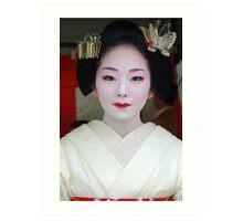 Butterfly Maiko Art Print