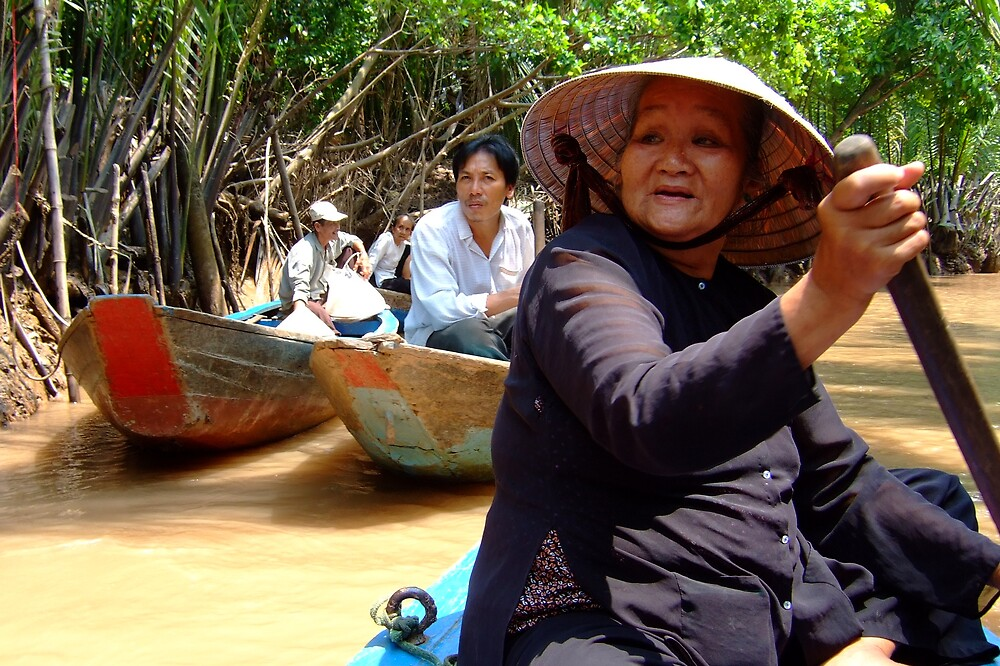 Boating in Mekong Delta by AlexOZ