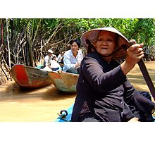 Boating in Mekong Delta Photographic Print