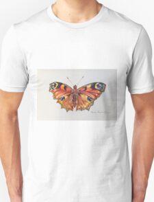 Butterfly in Ball Point Pen Unisex T-Shirt