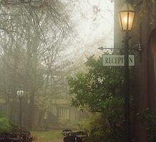 Misty courtyard, Beechworth by Chris Livingstone