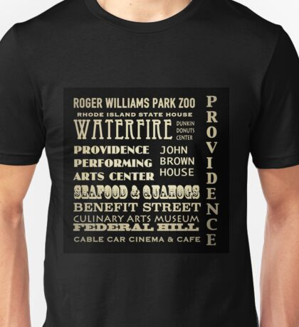 Providence Rhode Island Famous Landmarks Unisex T-Shirt