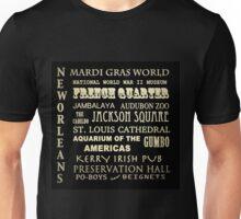 New Orleans Louisiana Famous Landmarks Unisex T-Shirt