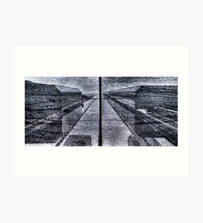 Symmetric Rain Art Print