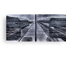 Symmetric Rain Canvas Print