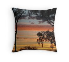 Sunrise through the Ghost Gums,Batton Hill,North Simpson Desert Throw Pillow