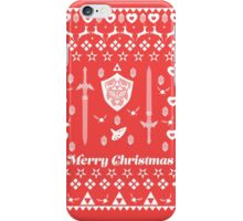 Zelda Christmas Card Jumper Pattern iPhone Case/Skin