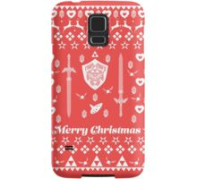Zelda Christmas Card Jumper Pattern Samsung Galaxy Case/Skin